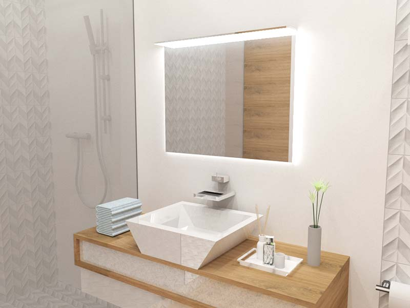 Ove Decors Villon Led Bathroom Mirror: LED Bathroom Mirror With Lights. Mirroy