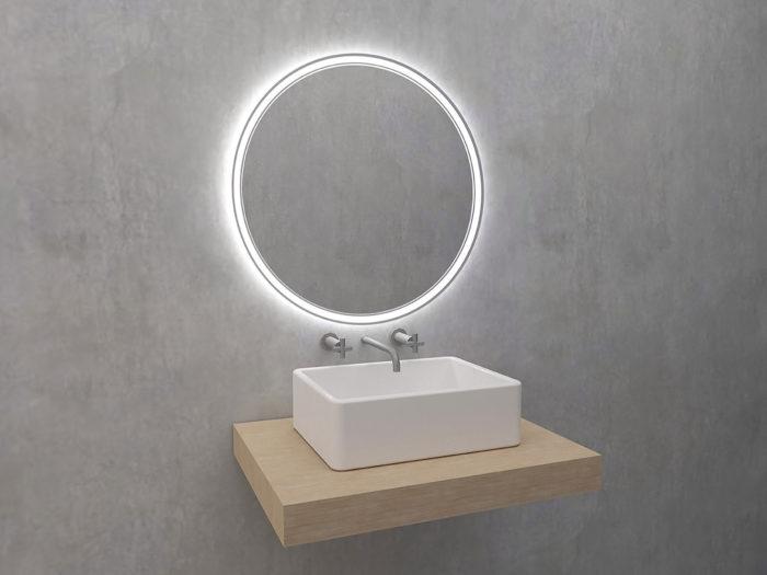Algardi - okrągłe lustro z oświetleniem LED