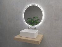 Algardi - round mirror with LED lighting