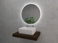 Algardi S - okrągłe lustro z oświetleniem LED