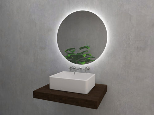 Algardi S - round mirror with LED backlight