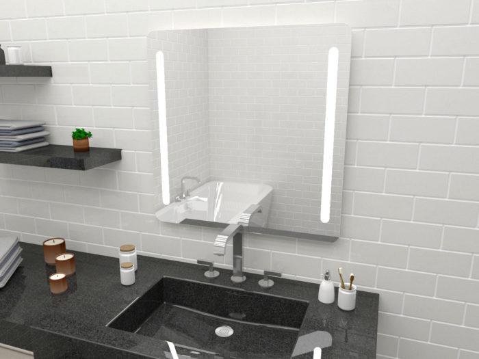 Lustro Astolf O. Lustro z oświetleniem LED w łazience.