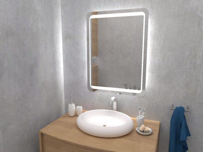 Darnlej lustro z oświetleniem LED