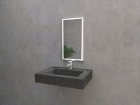 Iverti mirror with LED lighting from Mirroy.