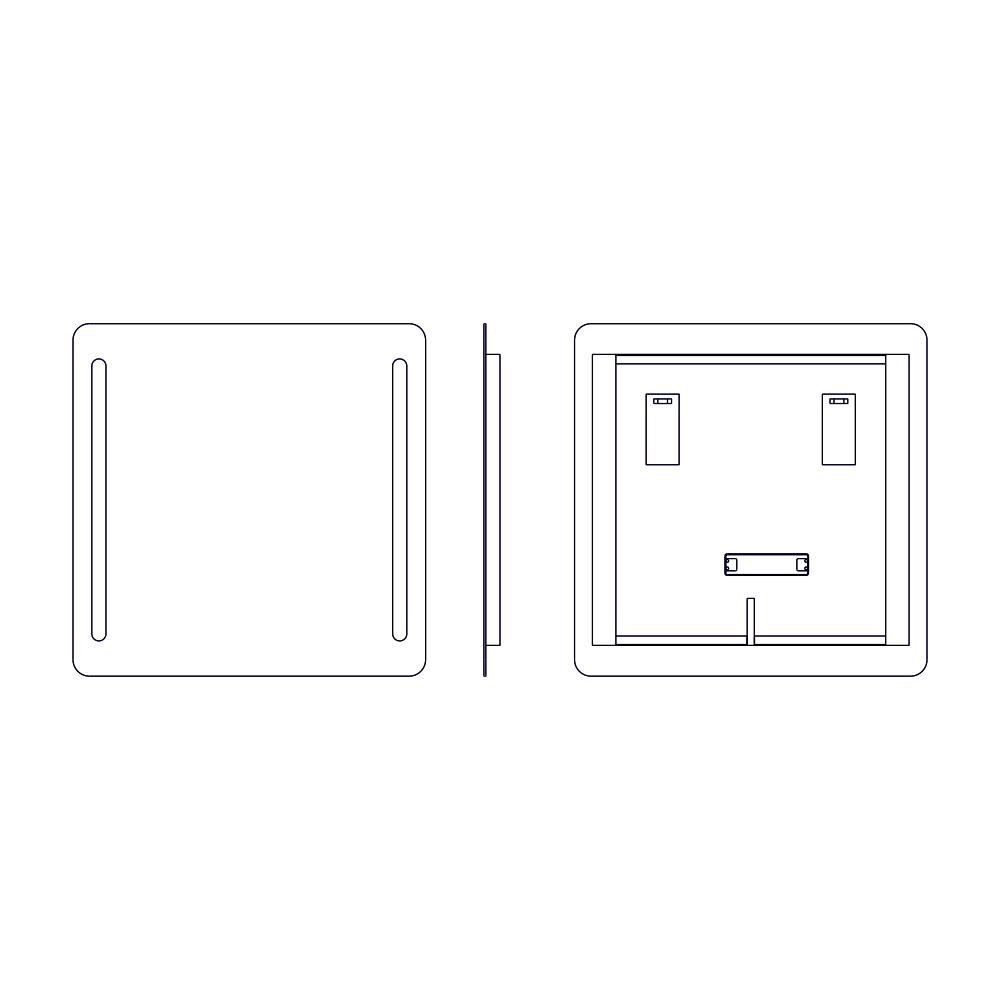 Lustro ASTOLF O rysunek techniczny