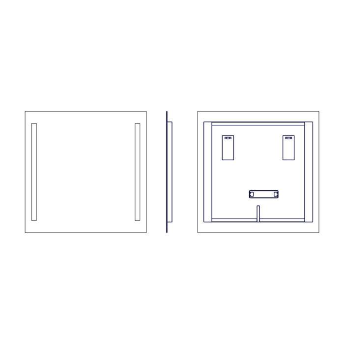 Lustro ASTOLF P rysunek techniczny