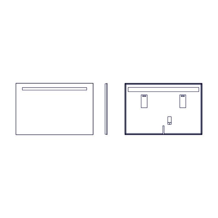 Lustro LED Casteli - rysunek techniczny