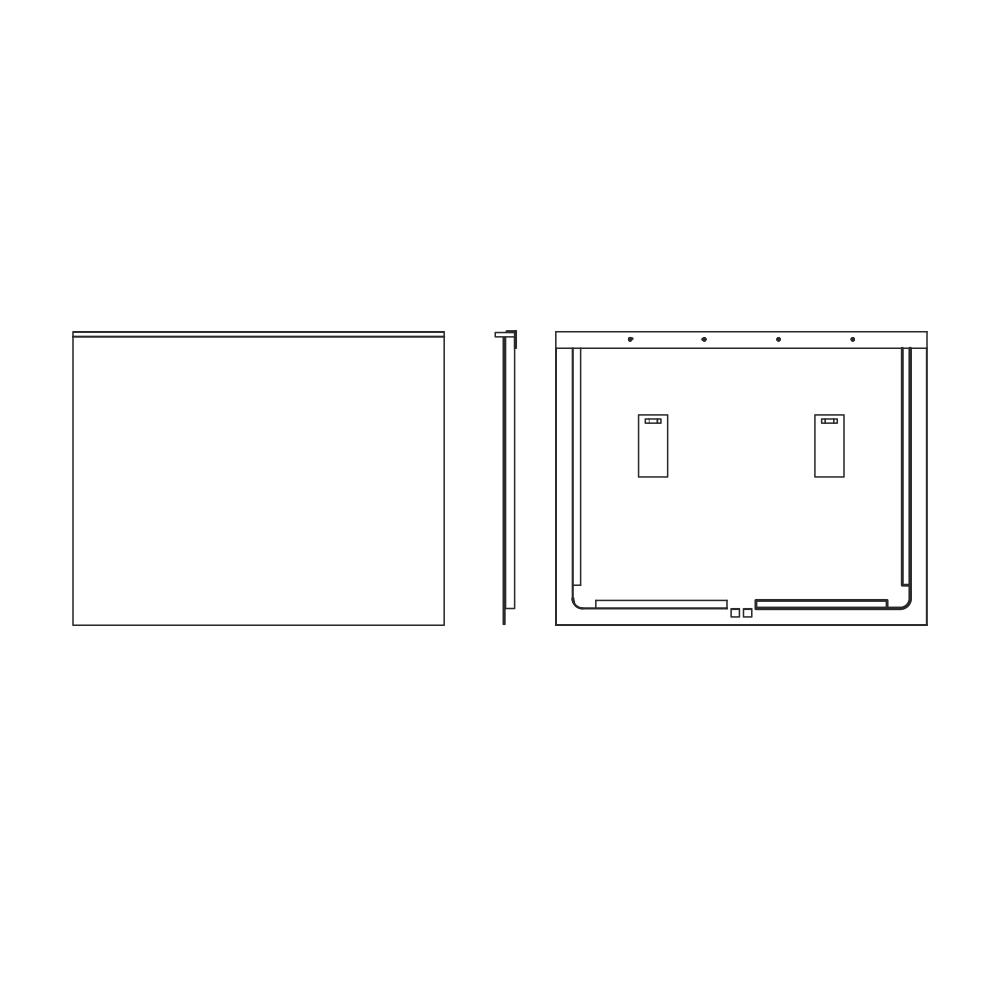 Lustro Rayo rysunek techniczny
