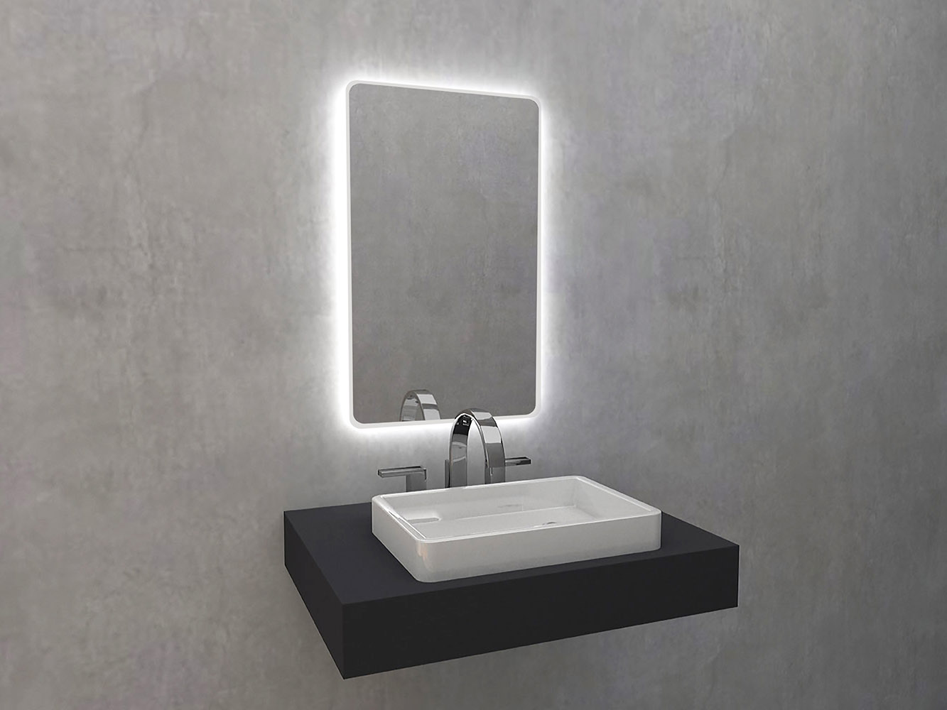 Bathroom mirrors with lighting. Matin Mirroy - mirror with LED backlight