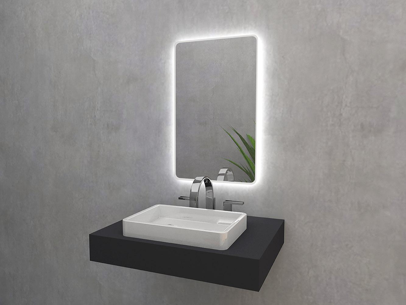 Lustro Matin z oświetleniem LED od Mirroy.