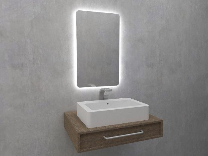 Natura Lustro z oświetleniem LED