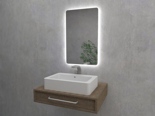 Natura Mirror. Mirror with backlit. Mirroy - manufacturer of mirrors.