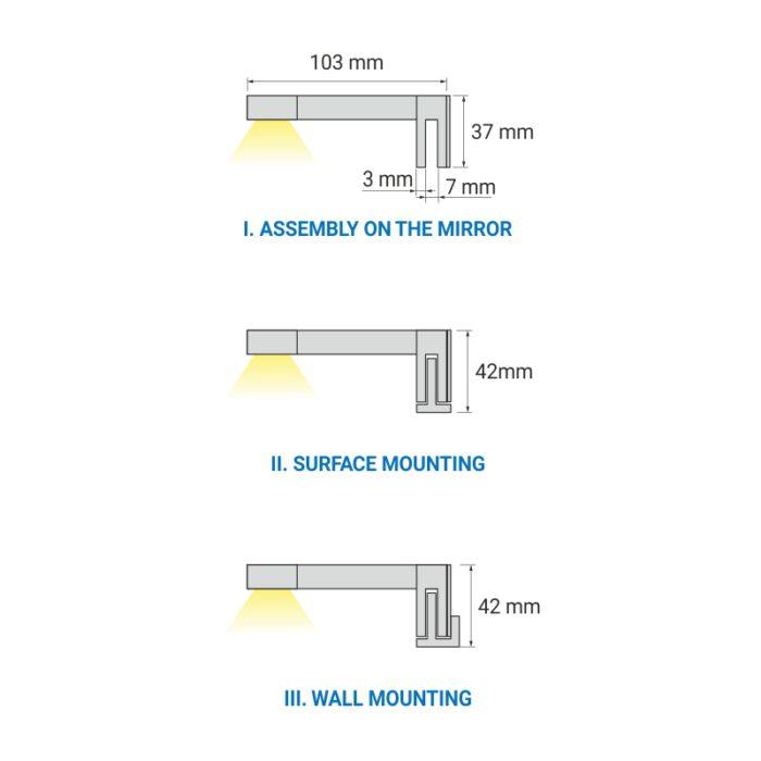 Sabi S wysięgnik LED