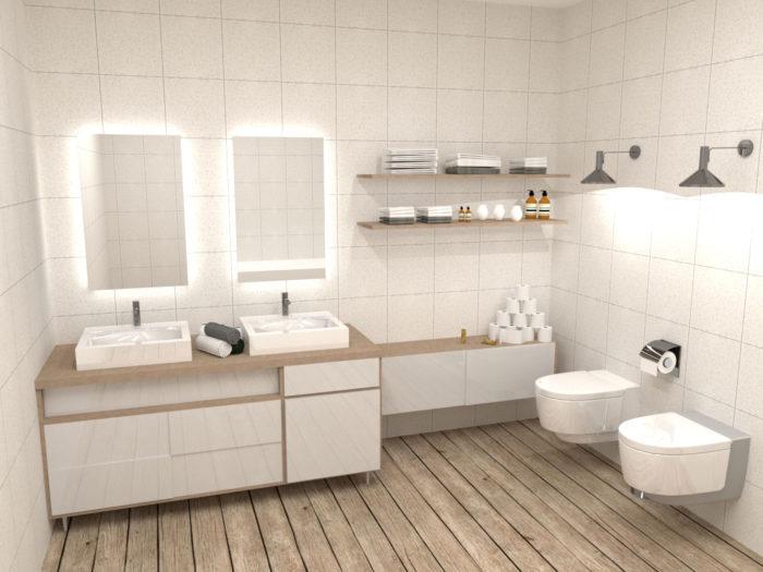 Lustro VELDI - lustro do łazienki. Aranżacja łazienki
