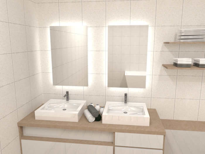 Aranżacja łazienki z lustrem Veldi