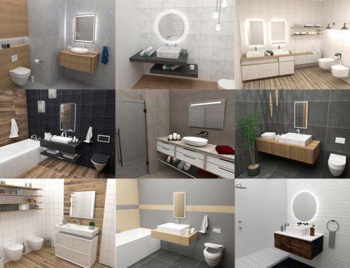Aranżacje łazienek z lustrami od Mirroy – galeria