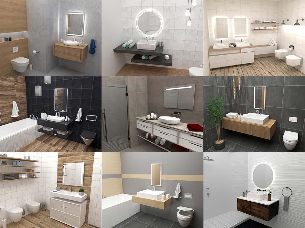 Aranżacje łazienek Z Lustrami Od Mirroy Galeria Mirroy