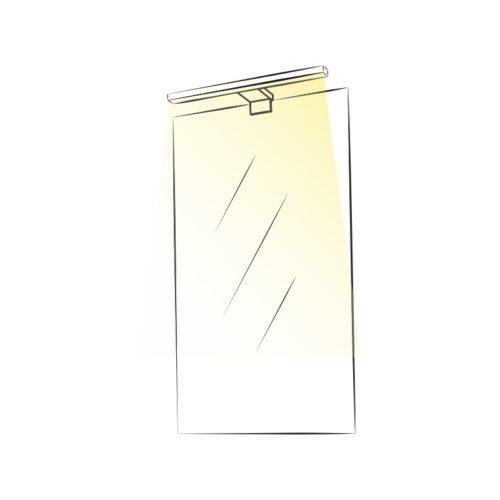 Sabi M wysięgnik oświetlenie LED na lustrze