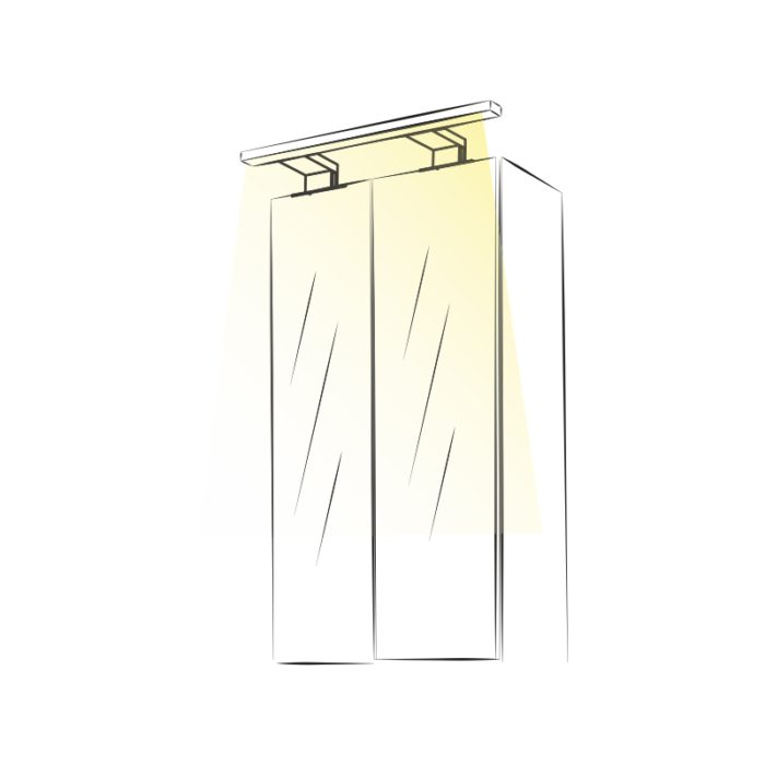 Sabi L - oświetlenie wysięgnik do łazienek ip44 - aranżacja