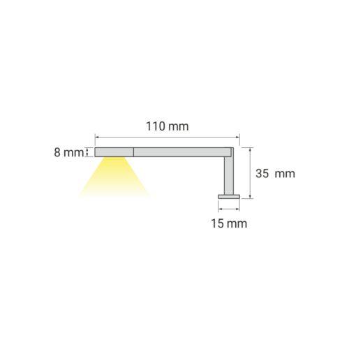 Simeto M oświetlenie LED do łazienek
