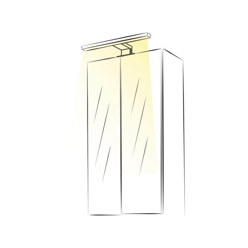 Simeto S oświetlenie LED do łazienek aranżacja