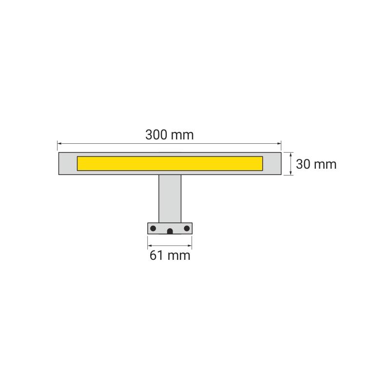 Simeto S oświetlenie LED do łazienek rysunek techniczny