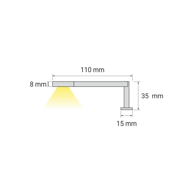 Simeto S oświetlenie LED do łazienek sposób działąnia